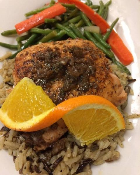 Salmon With Citrus-Balsamic Vinaigrette
