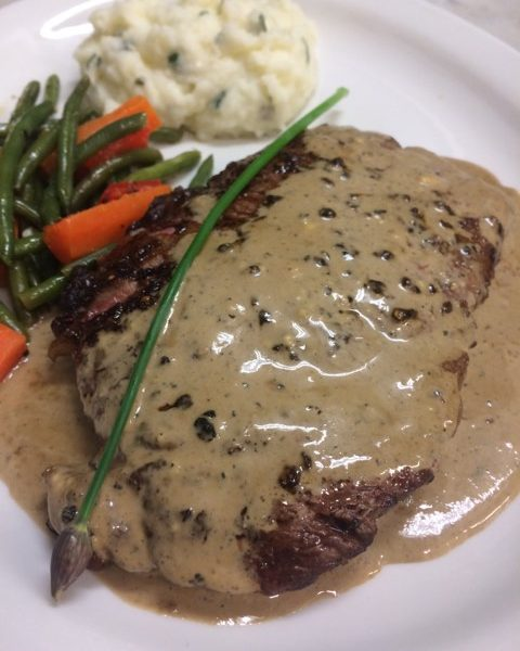 Steak Au Poivre: (Peppercorn Steak)